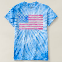 USA Flag Tie-Dye T-shirt