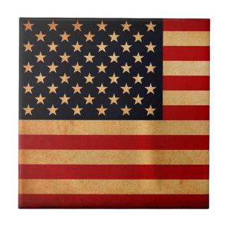 USA Flag Ceramic Tiles