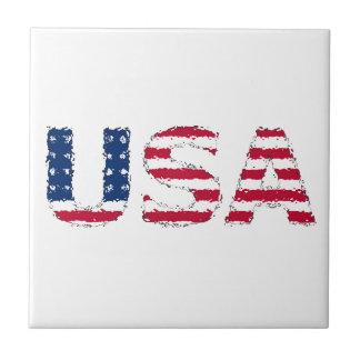 USA flag Azulejo