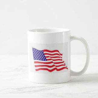 USA FLAG TRUCKER COFFEE MUG