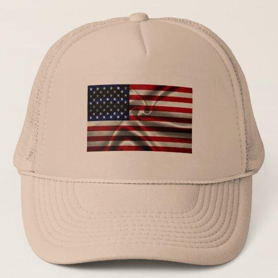 USA Flag Trucker Hat