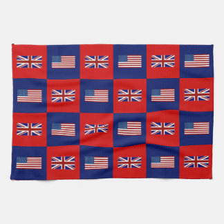 USA Flag & UK Flag Pattern Kitchen Towel