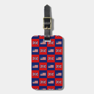 USA Flag & UK Flag Pattern Luggage Tag