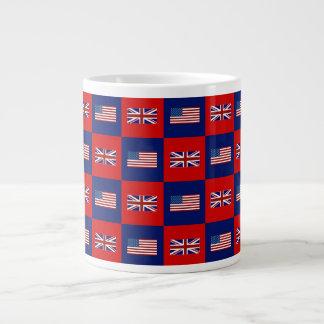 USA Flag UK Flag Pattern Jumbo Mug