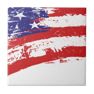 USA flag US America Ceramic Tile