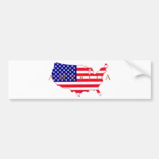 USA Flag - USA Map - America Bumper Sticker