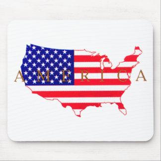 USA Flag - USA Map - America Mouse Pad