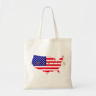 USA Flag - USA Map - America Tote Bag
