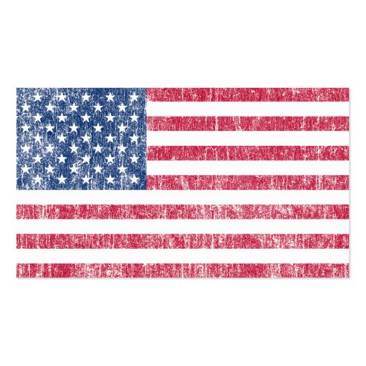 Usa flag vintage double sided standard business cards for Patriotic business card template