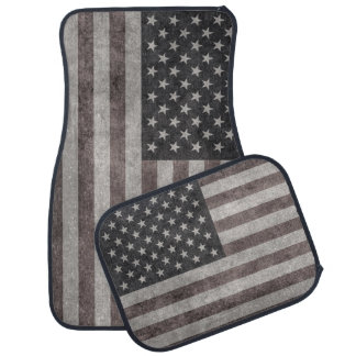 USA Flag, Vintage Retro American Flag On Canvas Car Mat