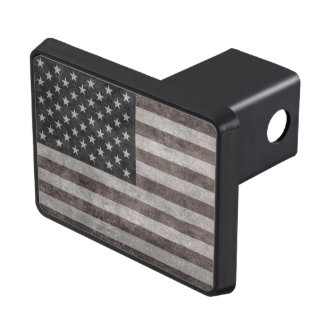 USA Flag, Vintage Retro American Flag On Canvas Trailer Hitch Cover