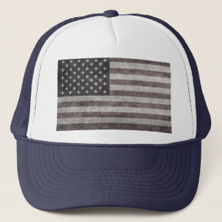 USA flag, vintage retro style with canvas textue Trucker Hat