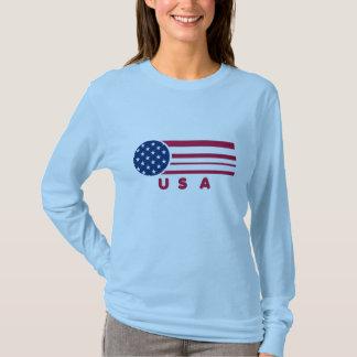USA Flag Vintage Stripes Long Sleeve Shirt