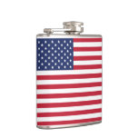 USA Flag Vinyl Wrapped Flask. American On The Go