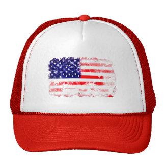 USA FLAG WASH MESH HATS
