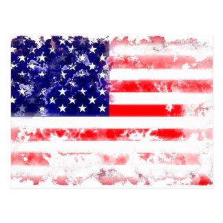 USA FLAG WASH POSTCARDS