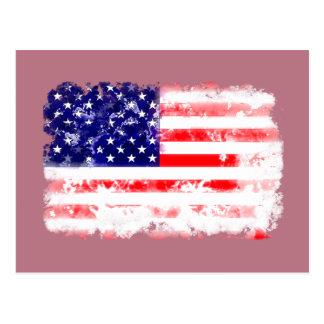 USA FLAG WASH POST CARD