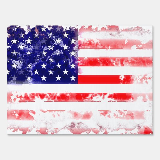 USA FLAG WASH YARD SIGN