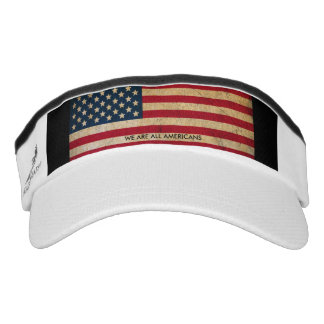 USA Flag We Are All Americans Performance Visor