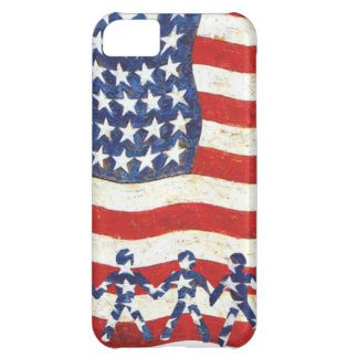 USA FLAG - WE THE PEOPLE ARE THE STARS iPhone 5C CASE