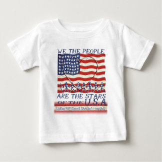 USA FLAG - WE THE PEOPLE ARE THE STARS INFANT T-SHIRT