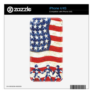 USA FLAG - WE THE PEOPLE ARE THE STARS SKIN FOR iPhone 4S