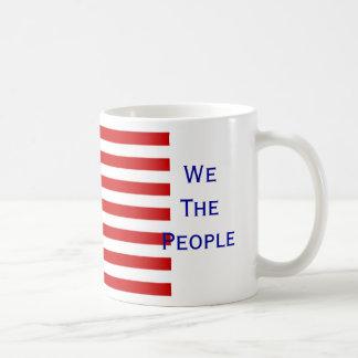 USA Flag We The People Coffee Mug by Janz
