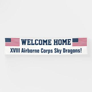 USA Flag Welcome Home Custom Banner