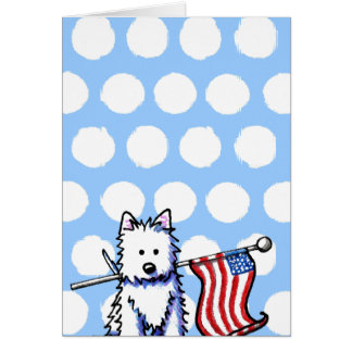 USA Flag Westie Card