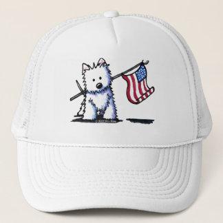 USA Flag Westie Terrier Cap