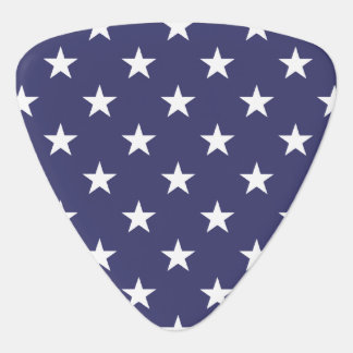 USA Flag White Stars on Flag Blue Guitar Pick