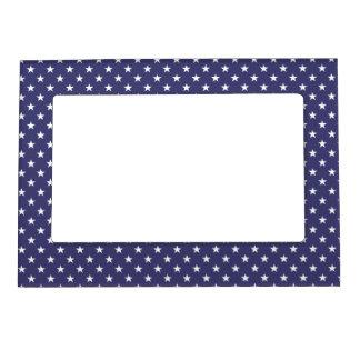 USA Flag White Stars on Flag Blue Magnetic Picture Frame