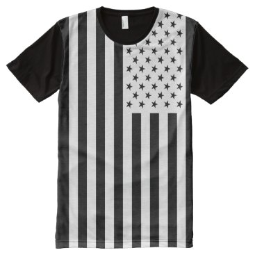USA Themed USA Flag - White Stencil All-Over-Print T-Shirt