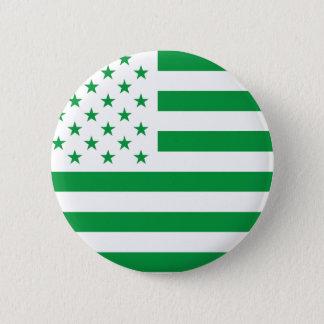 USA Flag - White Stencil Pinback Button