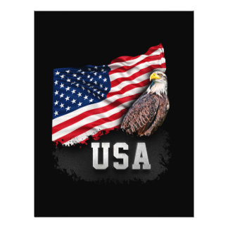 USA Flag with Bald Eagle 4th of July Flyer