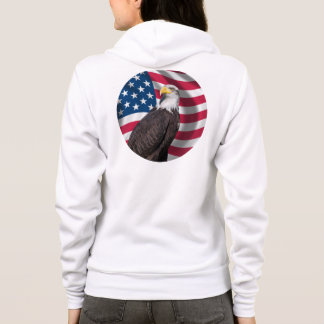 USA Flag with Bald Eagle Hoodie