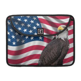 USA Flag with Bald Eagle MacBook Pro Sleeves