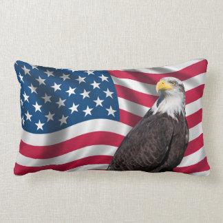 USA Flag with Bald Eagle Pillow