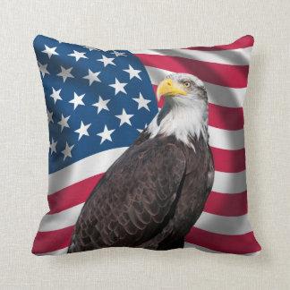 USA Flag with Bald Eagle Pillows