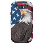 USA Flag with Bald Eagle Samsung Galaxy S3 Case