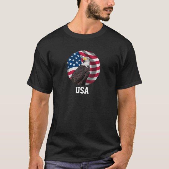USA Flag with Bald Eagle T-Shirt