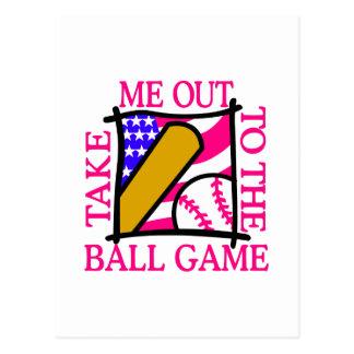 USA Flag with Baseball Postcard