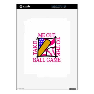 USA Flag with Baseball iPad 2 Decals