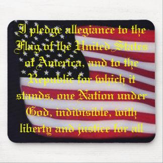 USA flag with pledge mousepad