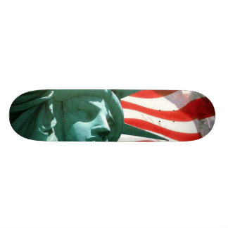 USA Flag with Statue of Liberty Skate Deck
