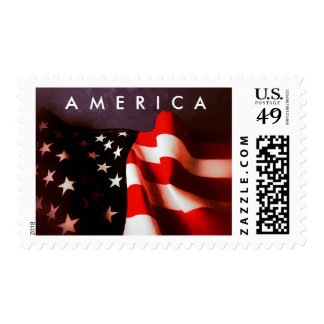 USA flag with text space Postage