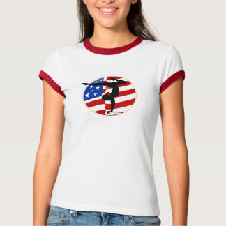 USA Flag  Women's Gymnastics Tees