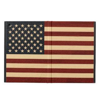 USA FLAG WOOD CASE FOR iPad AIR