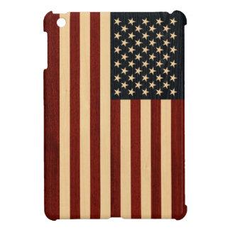 USA FLAG WOOD COVER FOR THE iPad MINI