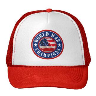 USA Flag World War Champions Trucker Hat